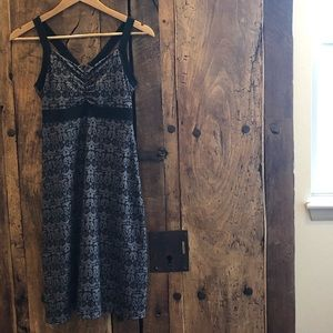 prAna Amaya Black & Gray Dress Size Small